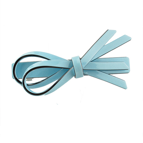 Double ribbon woman barrette