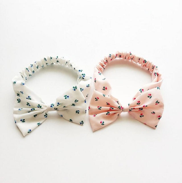 Fashion headband floral bow 2 pcs