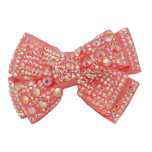 Ribbon bow strass hairclips 2pcs