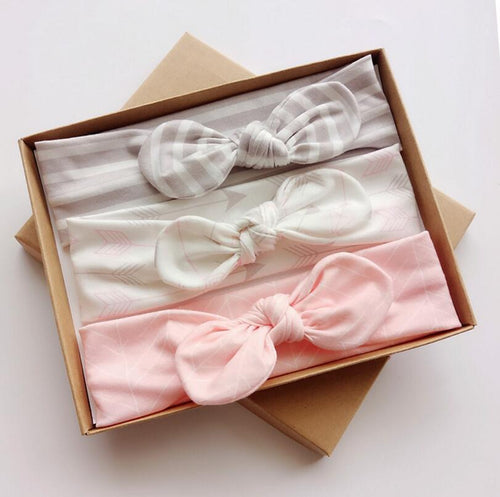 Set headband oreilles de lapin fille 3 pcs