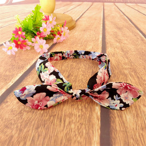 Baby and girl flower and cherry headband