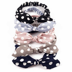 Girl dot headband bowknot