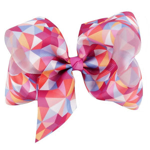 2 pcs large rainbow girl hair bow clips