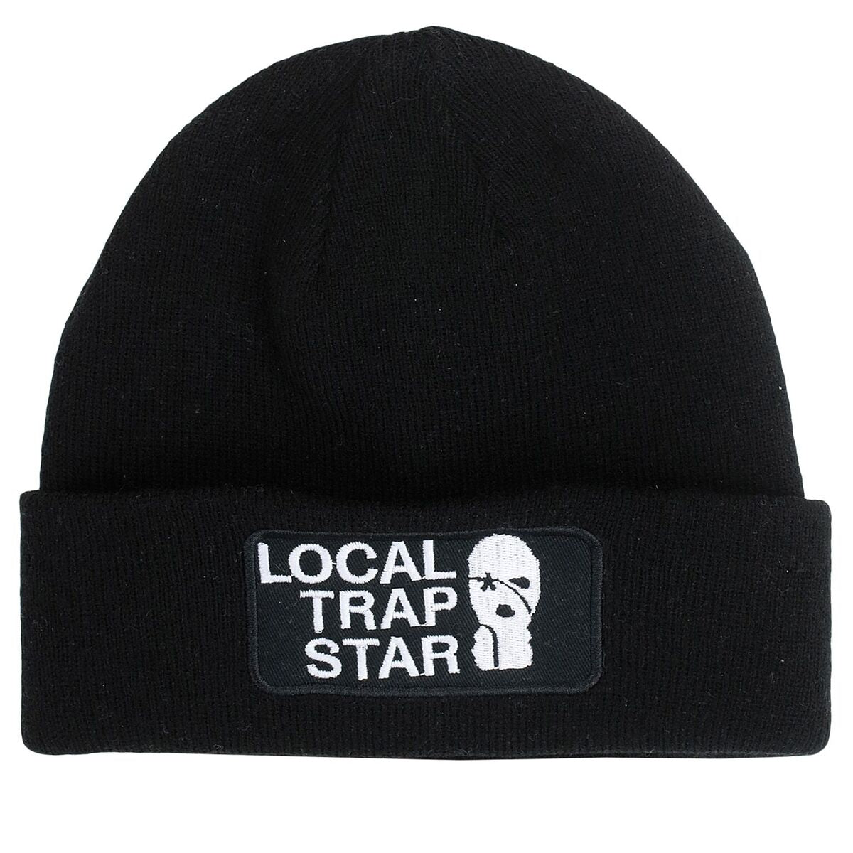 LTS Black Patch Beanie
