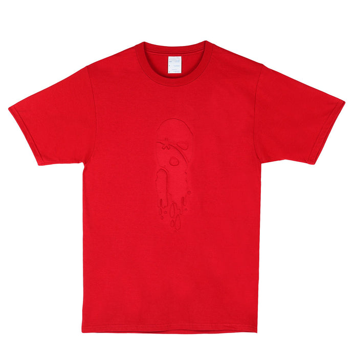 LTS Red Drippy Mask Embossed Tee