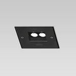 Orcamo 150 recessed walk-over LED square 6° walk over black - artemidestore.ca
