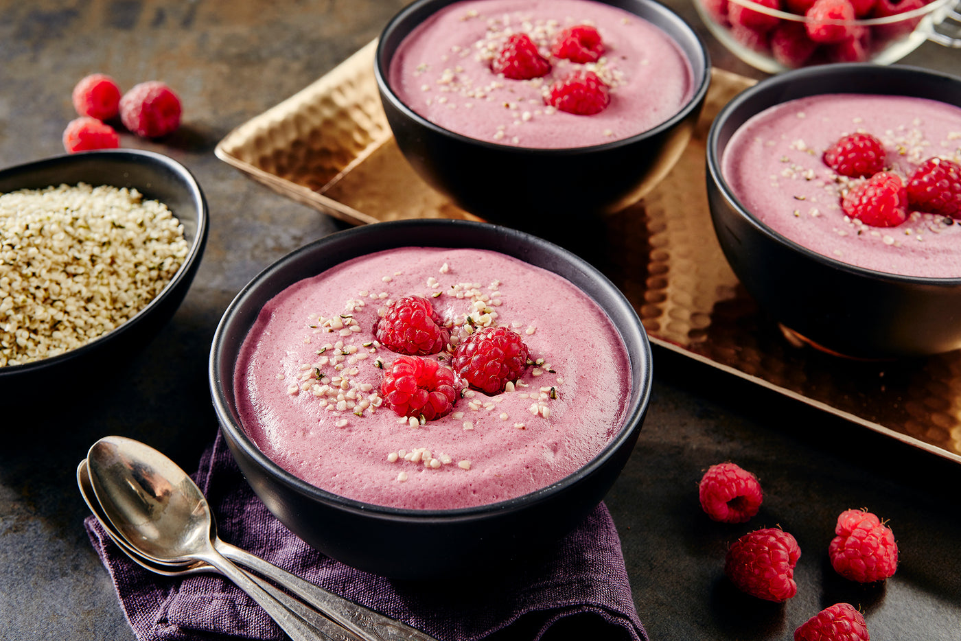 Raspberry Hemp Mousse