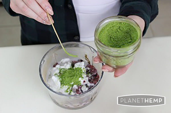RASPBERRY MATCHA PUDDING