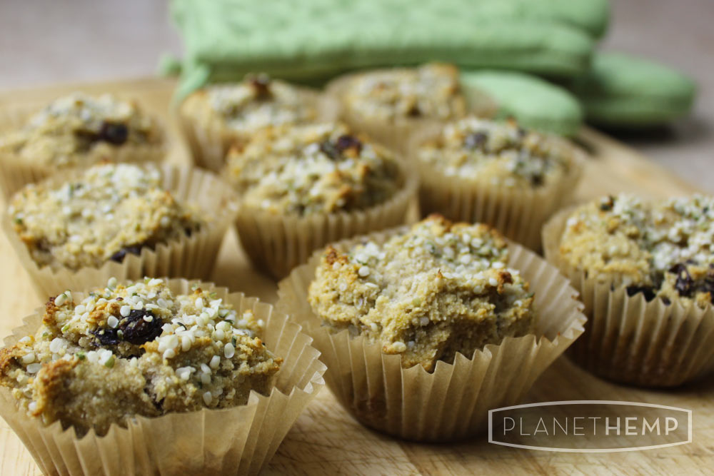 BANANA RAISIN HEMP MUFFINS