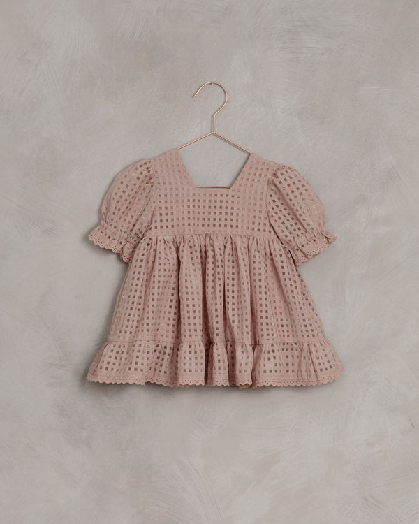 check Quinn dress | Dusty Rose