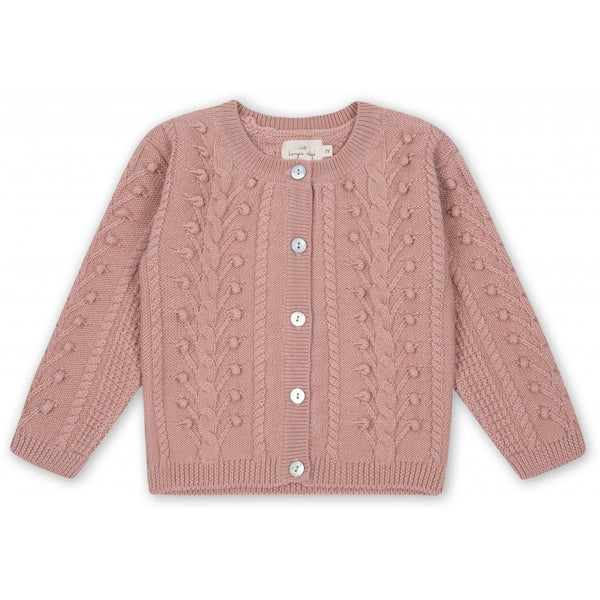Merino Wool Silya Cardigan | Rose Blush