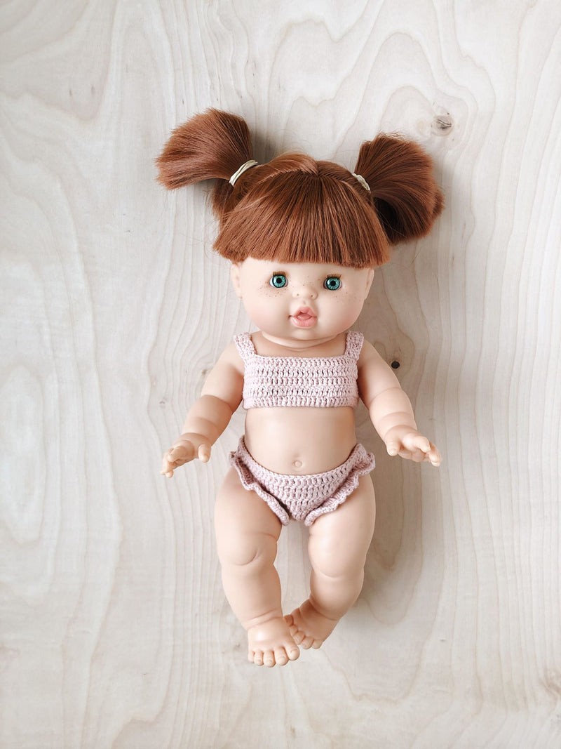 Crochet outfit for dolls | Muted Pink