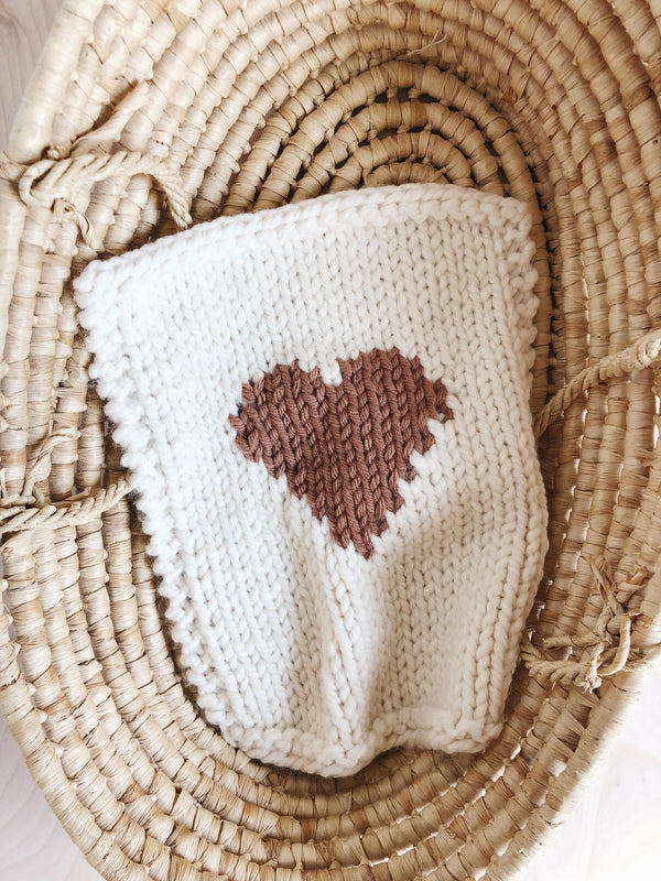 Doll blanket | Brown Heart