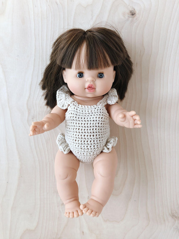 Doll Crochet Romper | Cream