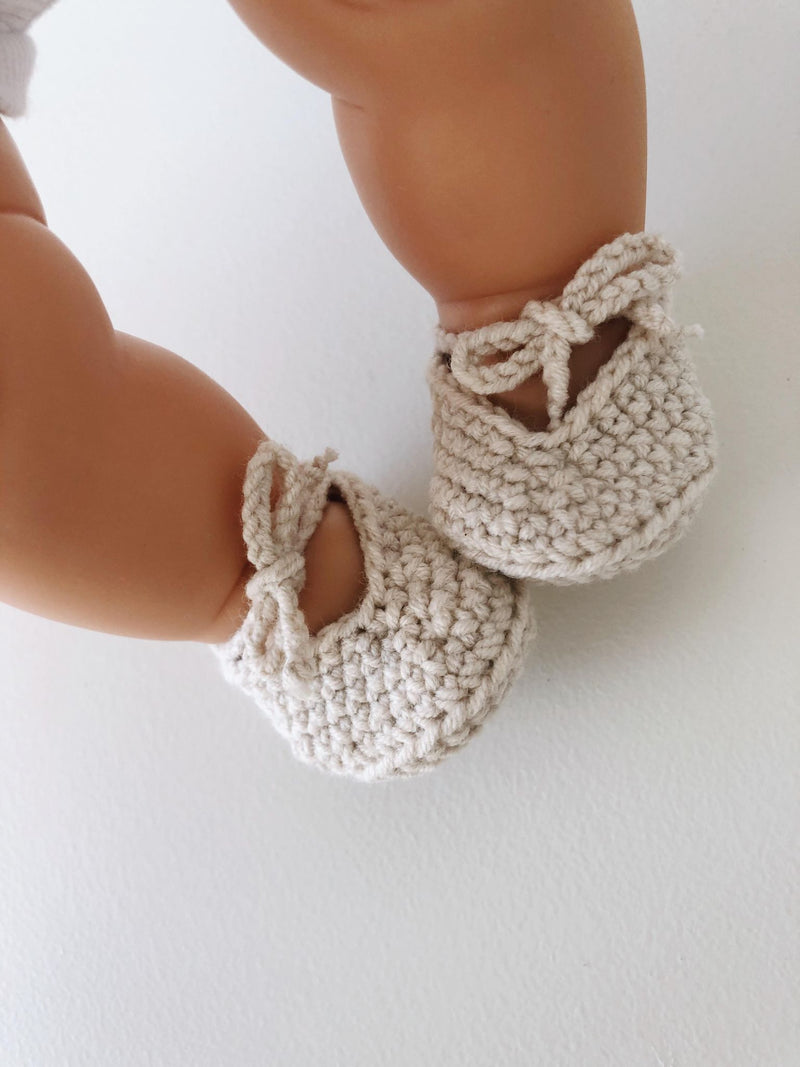 Doll Crochet shoes | Cream