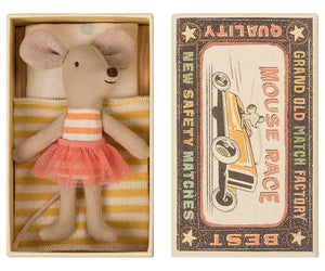 Maileg | Little Sister Mouse in Matchbox