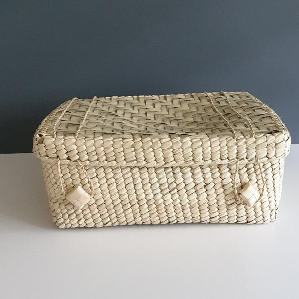 Handwoven Palm Box