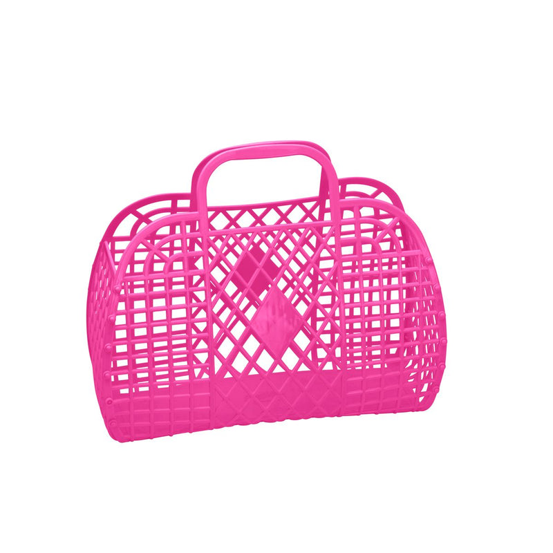 Retro Basket | Small | Hot Pink