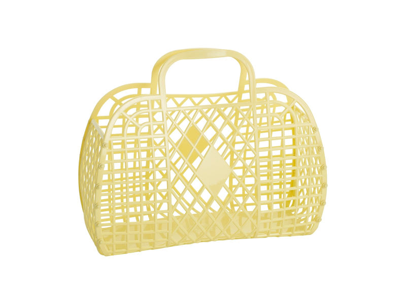 Retro Basket | Small | Yellow