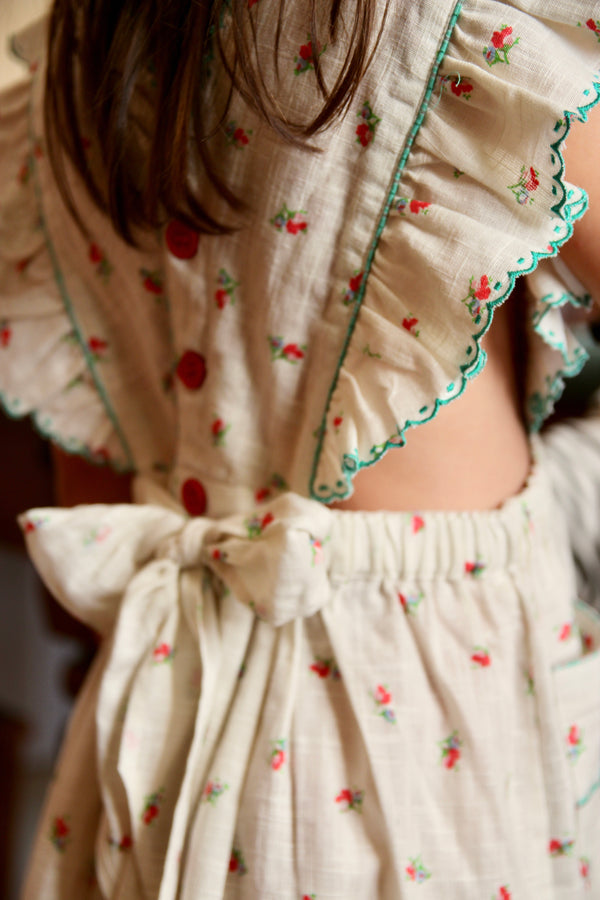 Apron Dress | Small Floral