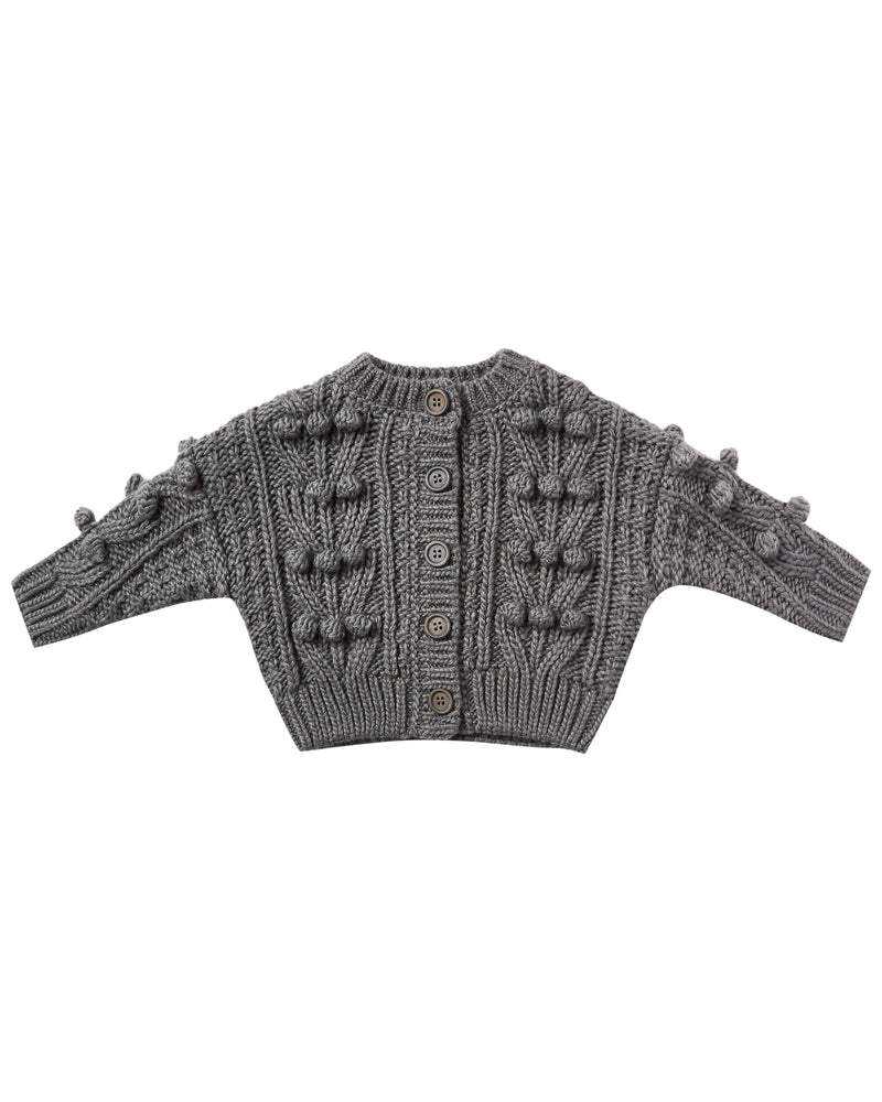 bobble cardigan | washed indigo