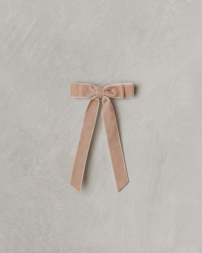 velvet bow | dusty rose