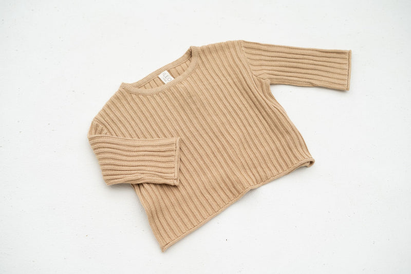 Essential Knit Jumper | Caramel