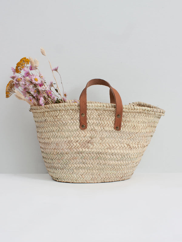 Mini Shopper basket | Leather Handle