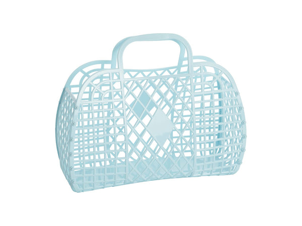 Retro Basket | Small | Blue