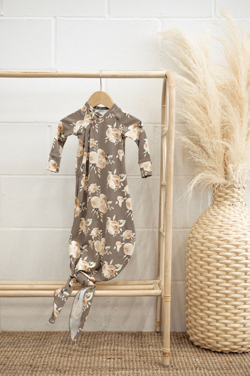 Infant Knot Gown | Floral