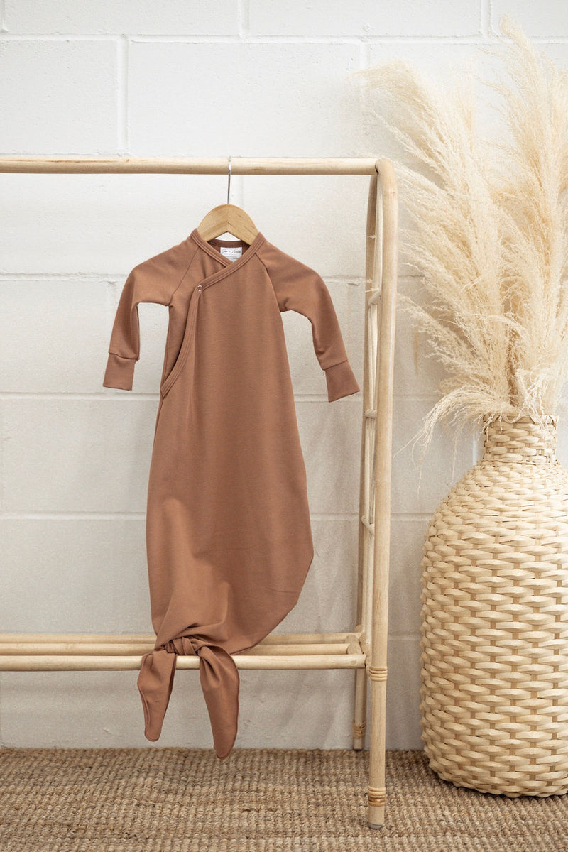 Infant Knot Gown | Terracotta