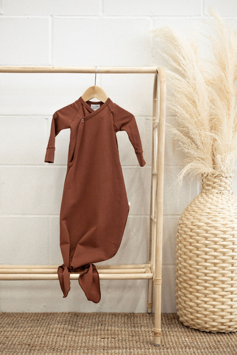Infant Knot Gown | Rust