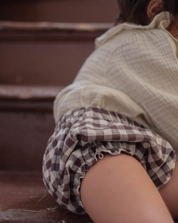 Daisy Shorts | Brown Gingham