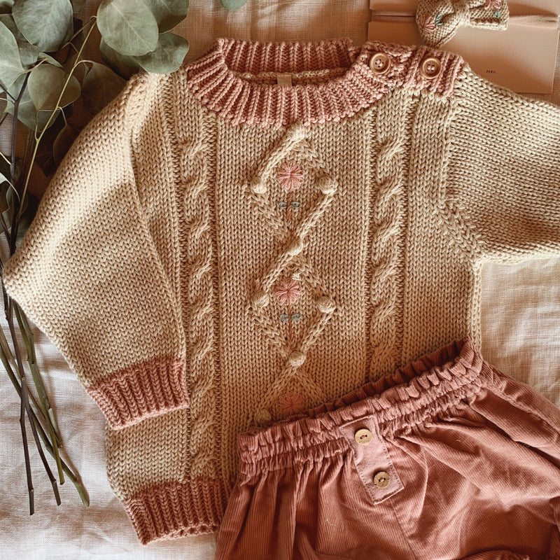 IRIS SWEATER | OLD ROSE OATMEAL