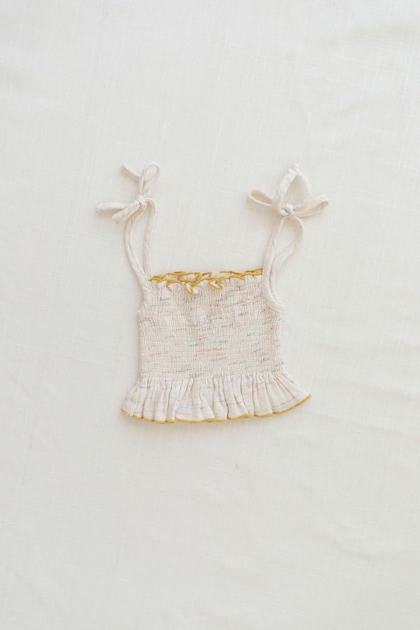 Smocked Crop Blouse | Confetti