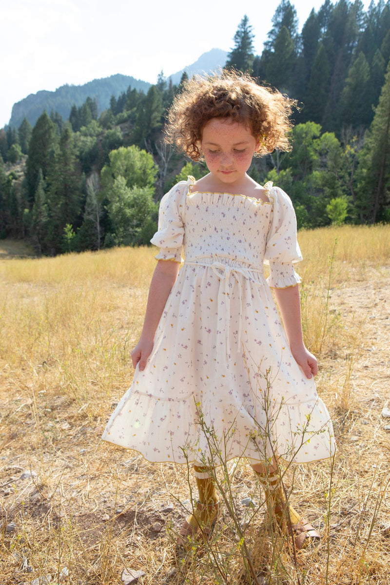 Smocked Dress | Lilac fields
