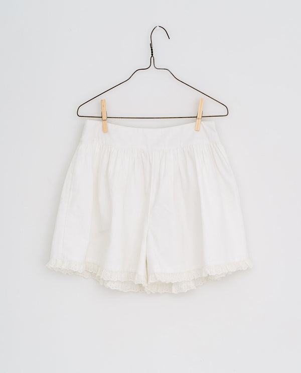 Joanie frilly shorts | white