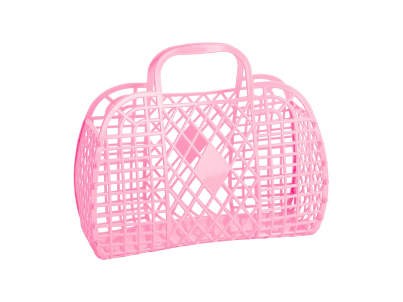 Retro Basket | Small | Bubblegum Pink