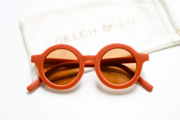 SUSTAINABLE KIDS SUNGLASSES | RUST