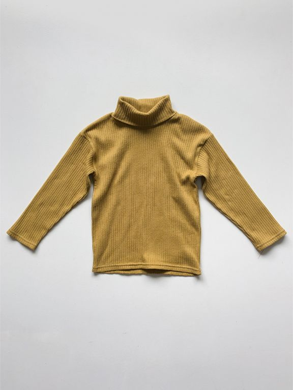 The Ribbed Turtleneck | Ochre