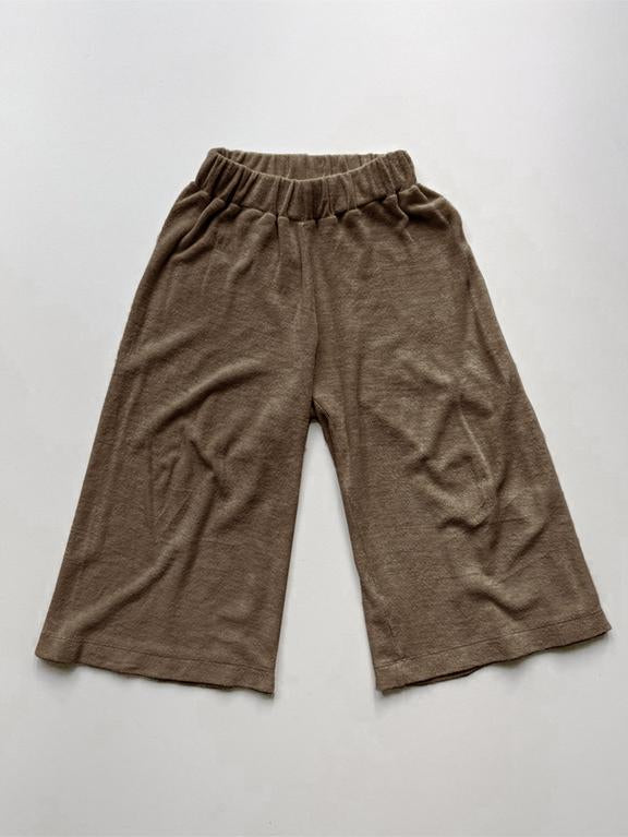 The Wide Leg Terry Trouser | Walnut