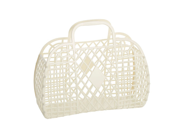 Retro Basket | Small | Cream
