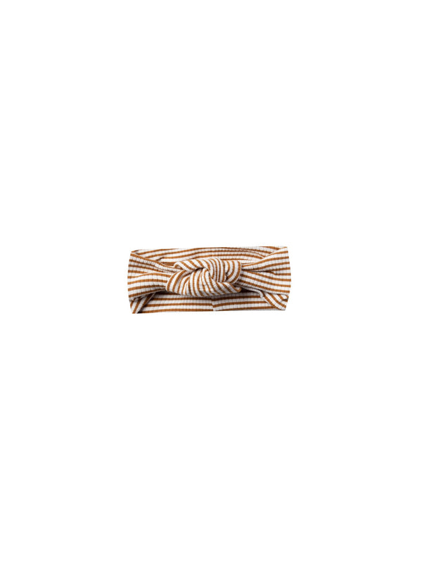 Ribbed Turban | walnut stripe