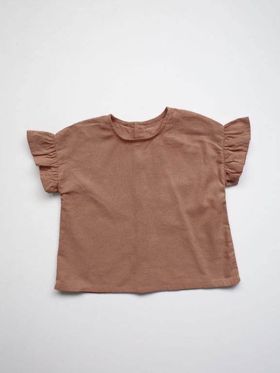 The Frill Linen Top | Cinnamon