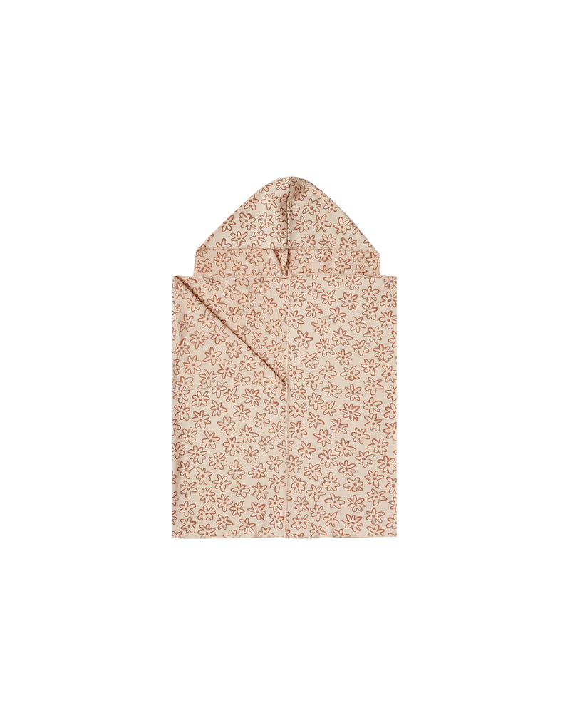 HOODED TOWEL | FLOWER OUTLINE