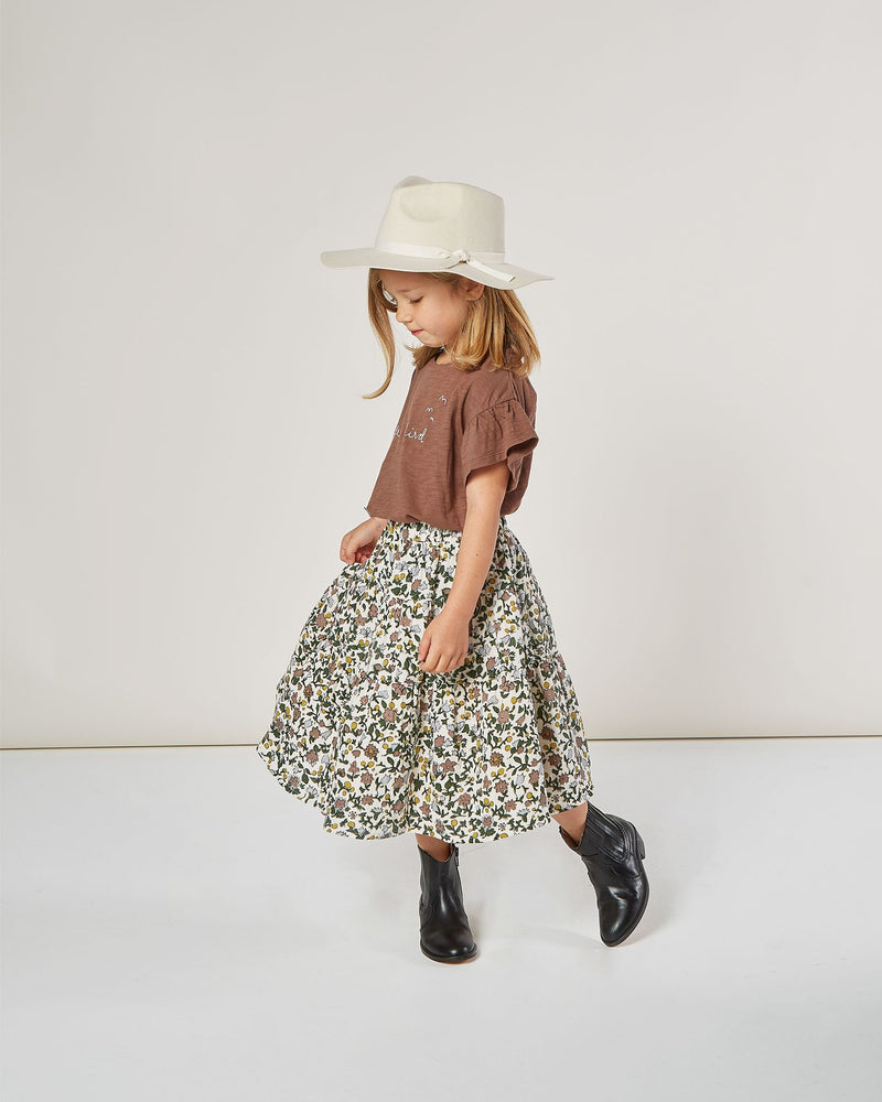 Enchanted Garden tiered midi skirt