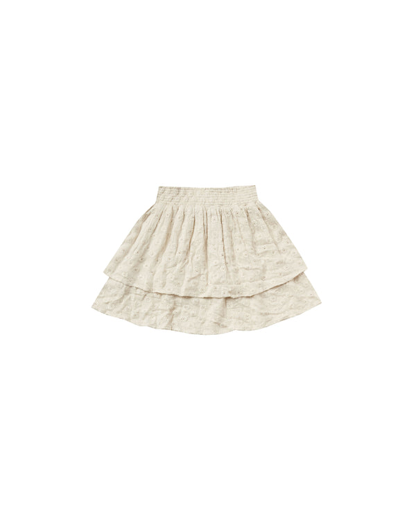 tiered mini skirt | natural