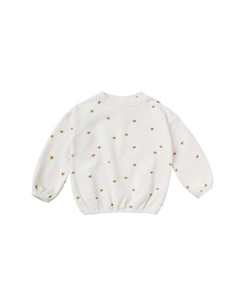 star slouchy pullover | ivory