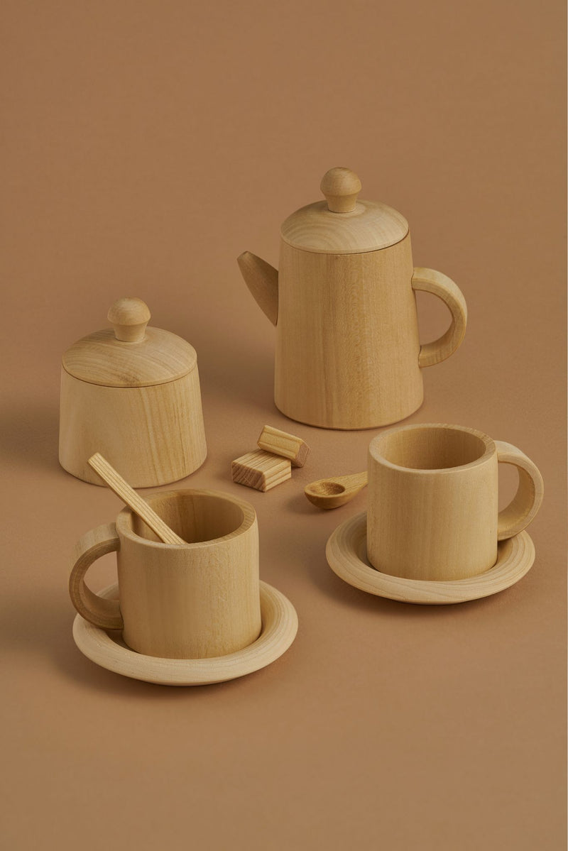 Raduga Grez | Wooden Tea Set | Natural