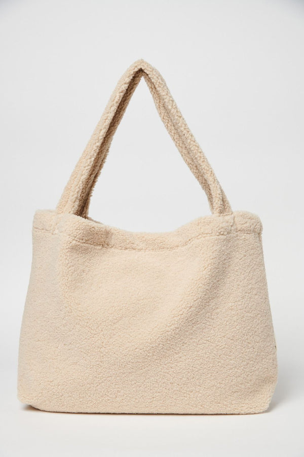 Chunky teddy mom-bag | Ecru